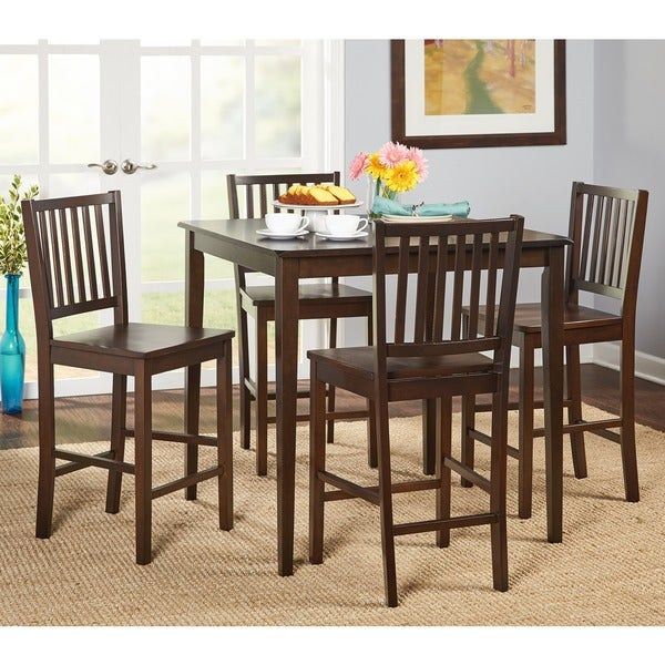 Simple Living Shaker Counter Height 5 Piece Dining Set