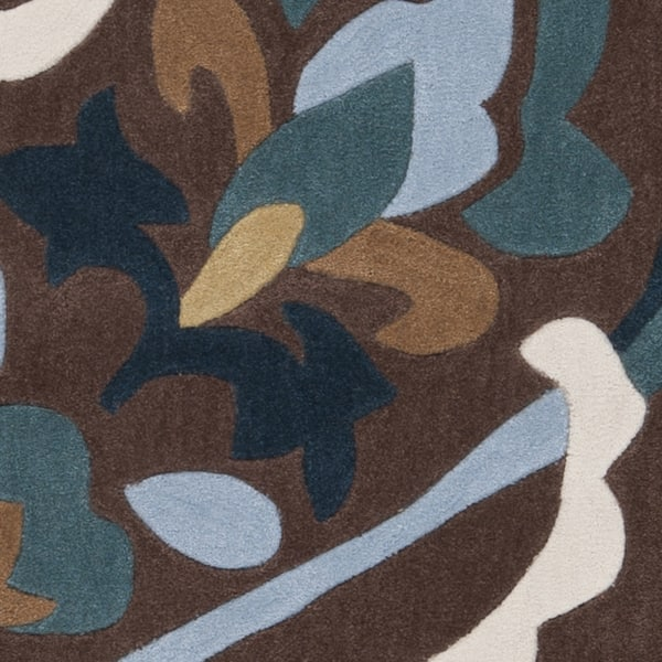 Hand Tufted Pharr Eggplant Floral Area Rug Overstock 7512102