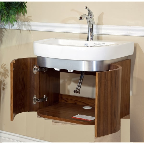 Single bathroom 24 inch wood vanity free shipping today 14952198 for 66 inch bathroom vanity cabinets