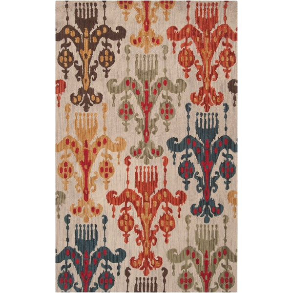 Hand-tufted Post Wool Area Rug