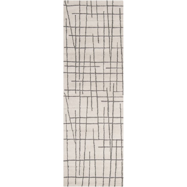 Hand-tufted Dixon Geometric Lines Wool Rug