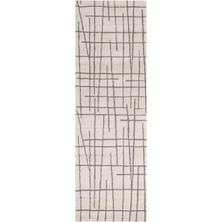 Hand-tufted Dix on Geometric Lines Wool Area Rug