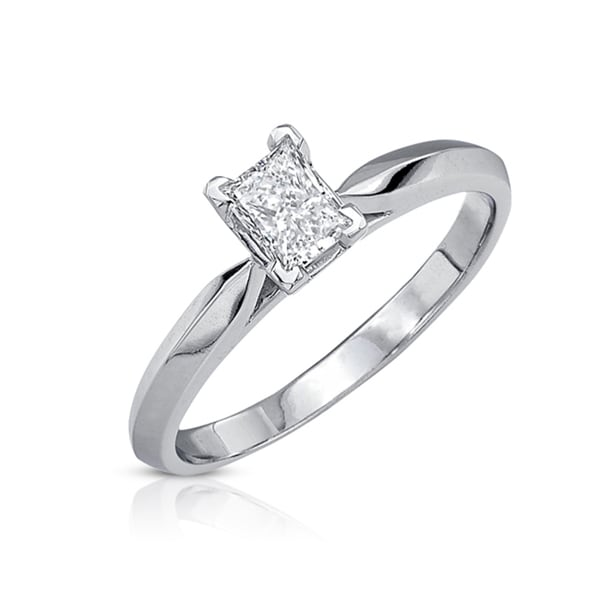 Victoria Kay 14k Gold 1/2ct TDW Certified Diamond Engagement Ring (J-K, VS1-VS2)