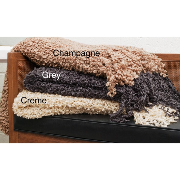 Cashmere Showroom Novelty Boucle Throw