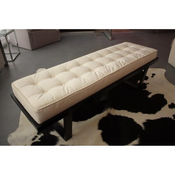 Decenni Custom Furniture Off-white Velvet Upholstered Bench