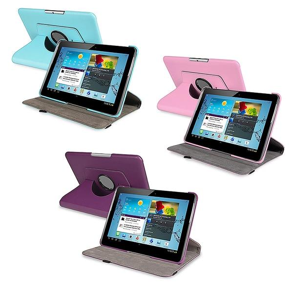 BasAcc Swivel Case for Samsung Galaxy Tab 2 P5100/ P5110/ 10.1-inch