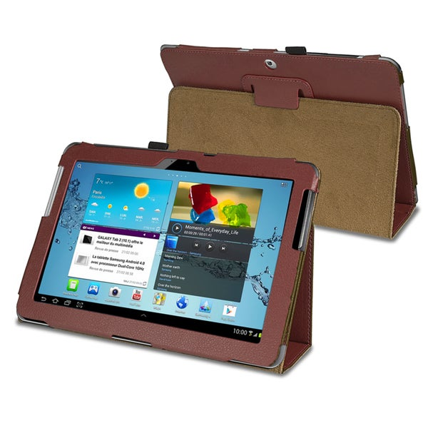 INSTEN Leather Tablet Case Cover for Samsung Galaxy Tab 2 P5100/ P5110/ 10.1-inch