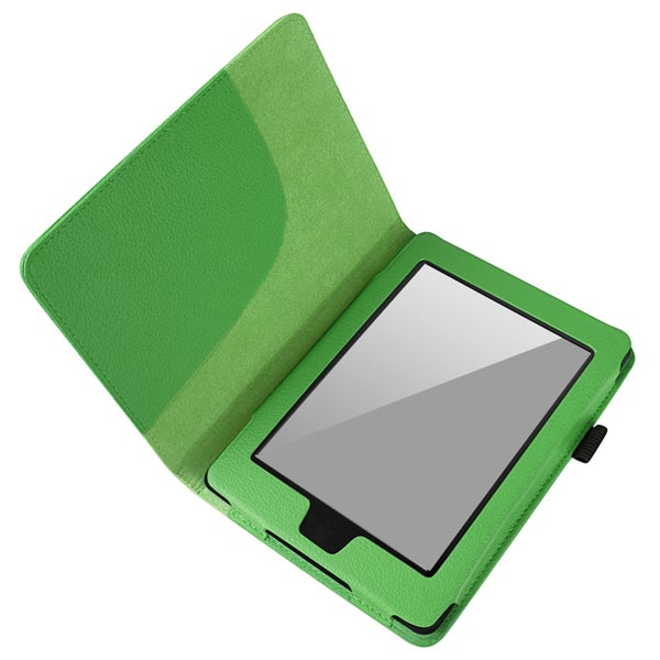 BasAcc Green Leather Case for Amazon Kindle Paperwhite