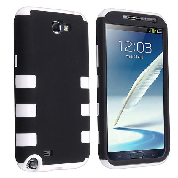 BasAcc White/ Blue Hybrid Case for Samsung Galaxy Note II N7100