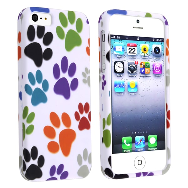 BasAcc Colorful Paws Snap-on Case for Apple iPhone 5