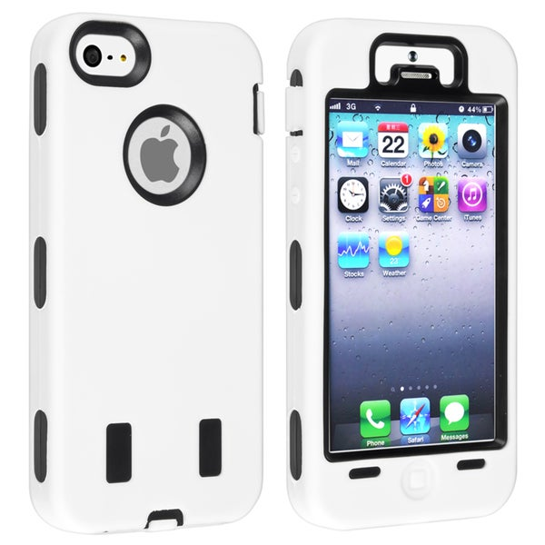 BasAcc Black Hard/ White Skin Hybrid Case for Apple® iPhone 5/ 5S