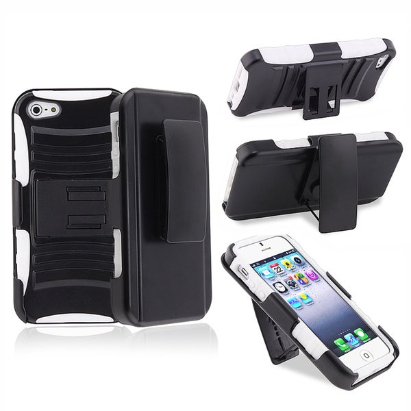 BasAcc White/ Black Hybrid Armor Case for Apple® iPhone 5