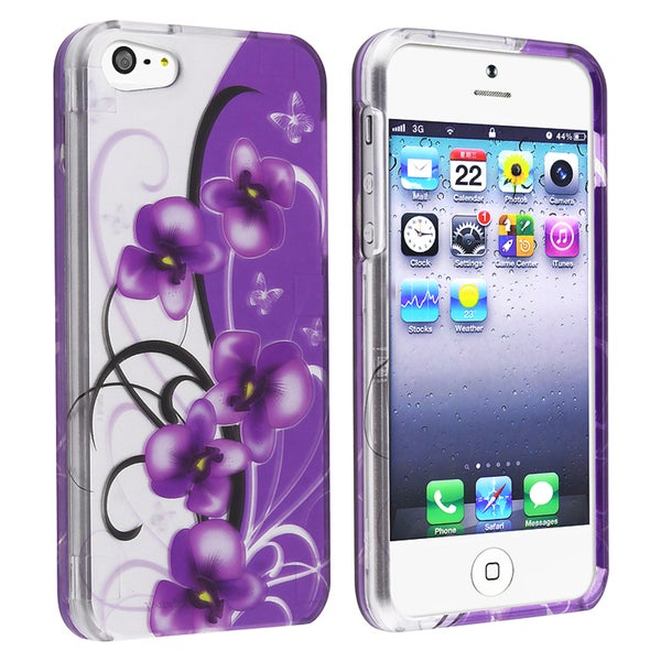 BasAcc Twilight Petunias Snap-on Case for Apple iPhone 5