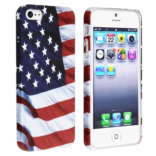 BasAcc US Flag Snap-on Rubber Coated Case for Apple iPhone 5