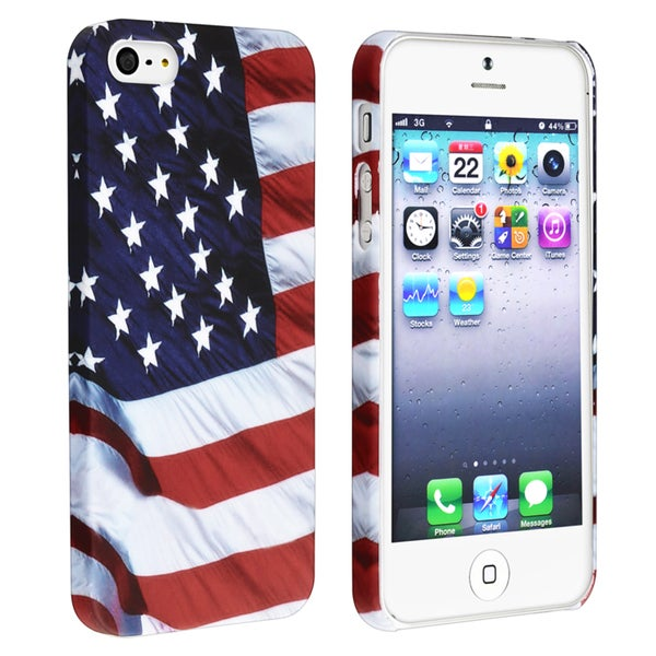 BasAcc US Flag Snap-on Rubber Coated Case for Apple® iPhone 5