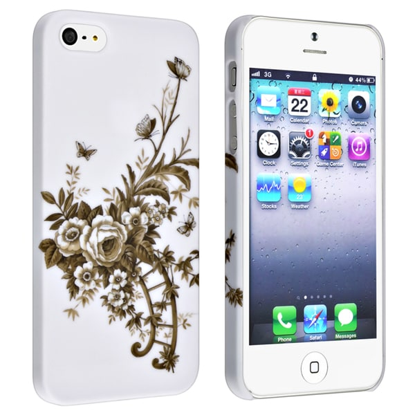 BasAcc White/ Vine Snap-on Rubber Coated Case for Apple® iPhone 5