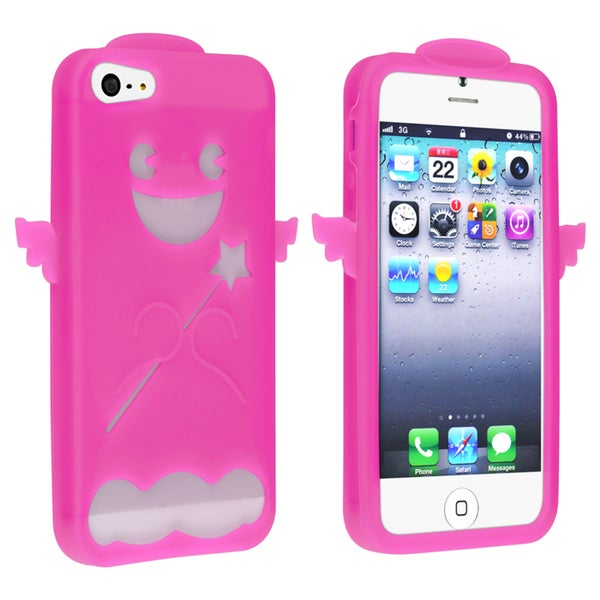 BasAcc Hot Pink Angel Silicone Skin Case for Apple® iPhone 5