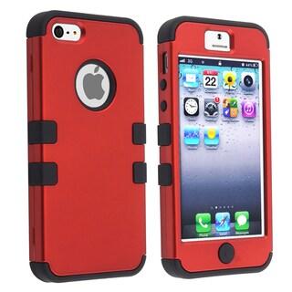 BasAcc Black Skin/ Red Hard Hybrid Case for Apple iPhone 5