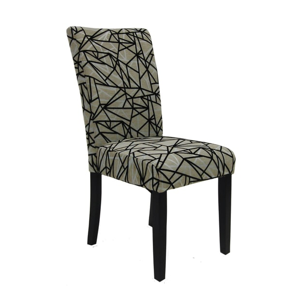 Beige and Black Dining Chair (Set of 2)