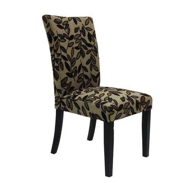 Tree Leaf Fabric Side Chairs (Set of 2)