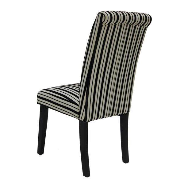 Fabulous Shop Black And White Tuxedo Stripes Dining Chairs Set Of 2 Bralicious Painted Fabric Chair Ideas Braliciousco