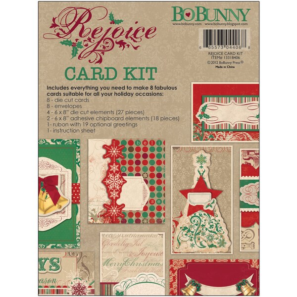 Rejoice Card Kit-Makes 8 Cards With Envelopes