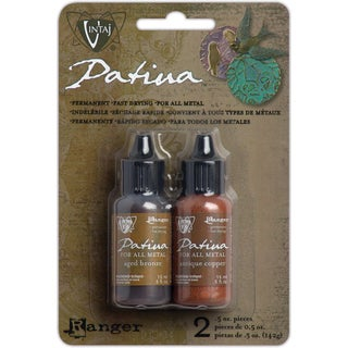 Vintaj Patina Kit-Ancient Coin-Aged Bronze/Antq Copper