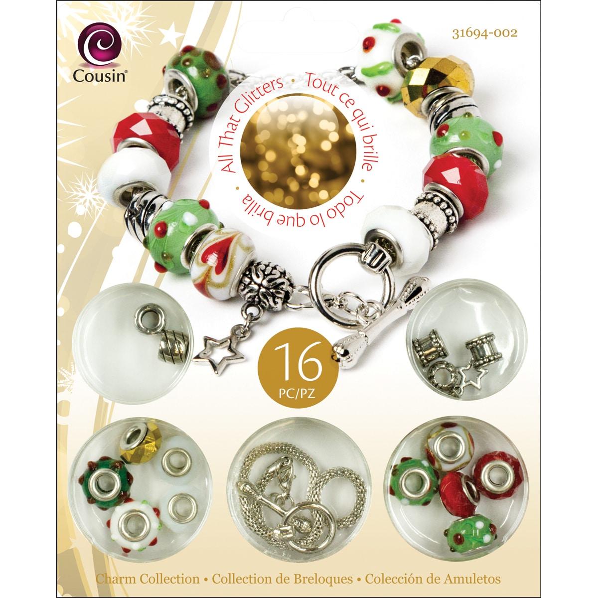 Cousin Corporation of America Christmas Trinket Bead Kit-...