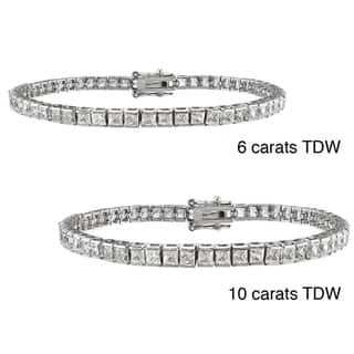 Montebello 14k Gold 6 to 10ct TDW Princess-cut Diamond Bracelet|https://ak1.ostkcdn.com/images/products/7515097/7515097/14k-Gold-6-to-10ct-TDW-Princess-cut-Diamond-Bracelet-G-H-VS1-VS2-P14954857.jpeg?impolicy=medium