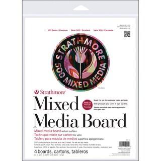 Strathmore Mixed Media Board Vellum 11X14 4/Pkg