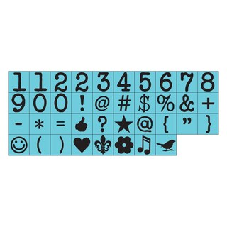 "Prima Press Alphabet Stamp Set .25"" Characters-#4"