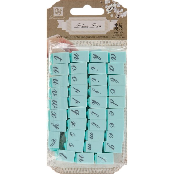 "Prima Press Alphabet Stamp Set .25"" Characters-#1"