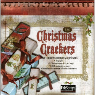 Christmas Crackers Party Favors Die-Cut Pad 40 Sheets-8 Designs, Makes 120
