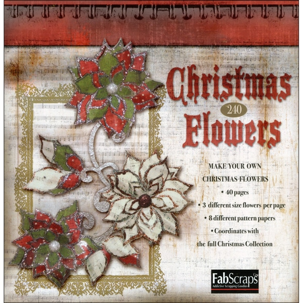 Christmas Paper Flowers Die-Cut Pad-Makes 120