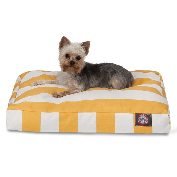 Majestic Pet Navy Blue Vertical Stripe Rectangle Dog Bed