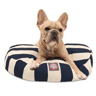 Majestic Pet Outdoor Indoor Vertical Stripe Round Dog Bed