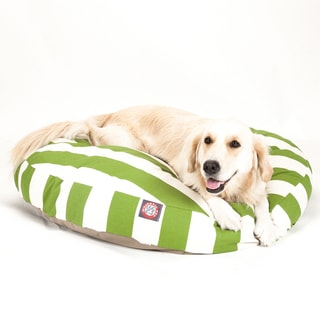 Majestic Pet Sage Vertical Stripe Round Pet Bed