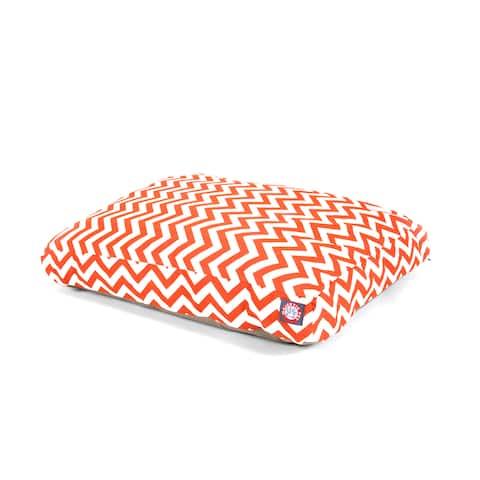 Majestic Pet Burnt Orange Chevron Rectangle Pet Bed