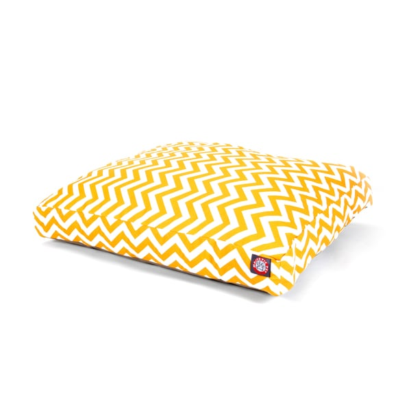 Majestic Pet Yellow Chevron Rectangle Pet Bed