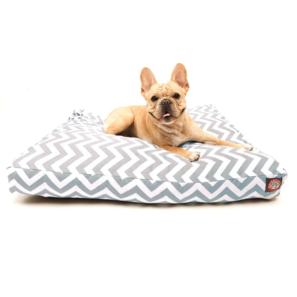 Majestic Pet Grey Chevron Rectangle Pet Bed