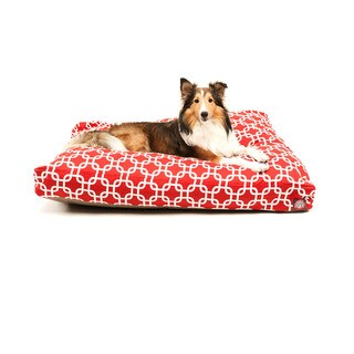 Majestic Pet Red Links Rectangle Dog Bed (4 options available)