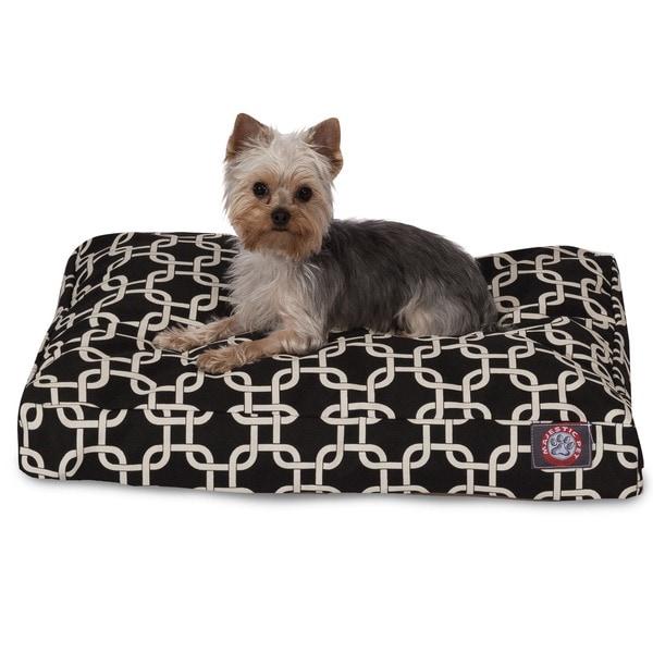 Majestic Pet Black Links Rectangle Dog Bed