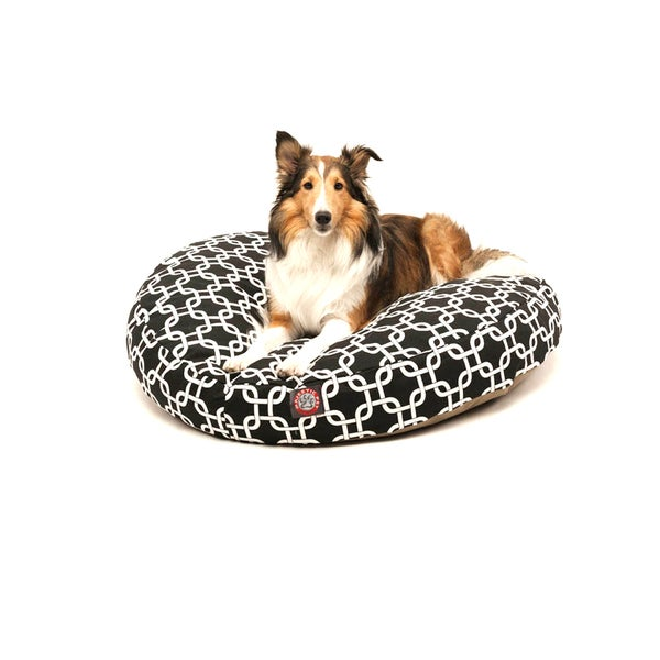 Majestic Pet Black Links Round Pet Bed
