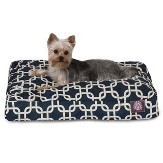 Majestic Pet Navy Blue Links Rectangle Dog Bed