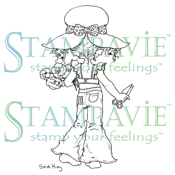 Stampavie Sarah Kay Clear Stamp-Spring Blossoms