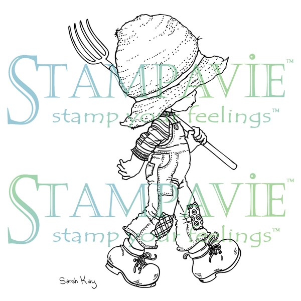 Stampavie Sarah Kay Clear Stamp-Gardens Need Many Helpers