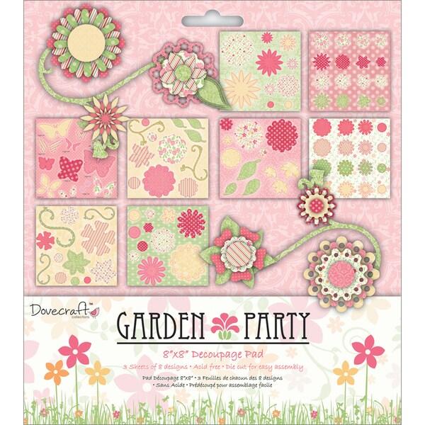 Garden Party Decoupage Paper Pad