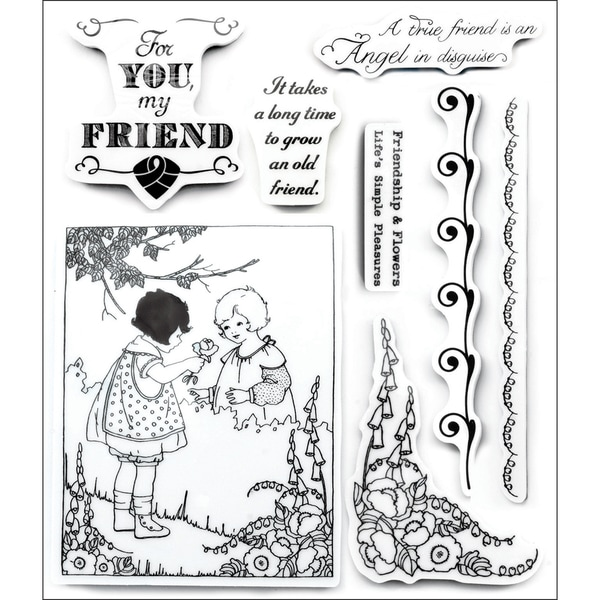 Art Angel Cling Stamps-