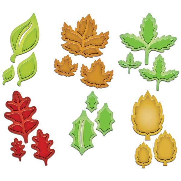 Spellbinders Shapeabilities Dies-Little Leaf Sets