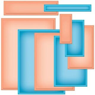 Spellbinders Nestabilities A2 Card Creator Dies-Matting Basics B